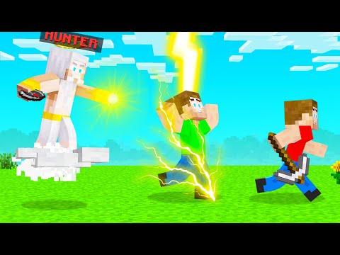 Playing As GOD In HUNTER Vs SPEEDRUNNER! (Minecraft)