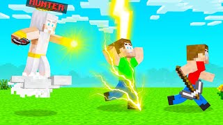 Playing As GOD In HUNTER Vs SPEEDRUNNER! (Minecraft)