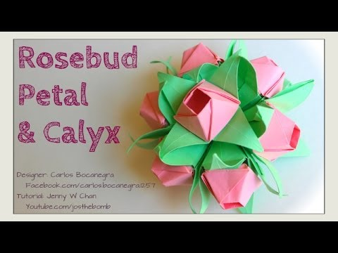 Video on How to Make an Origami Flower (Hollow Petal) by Leyla Torres | 360x480