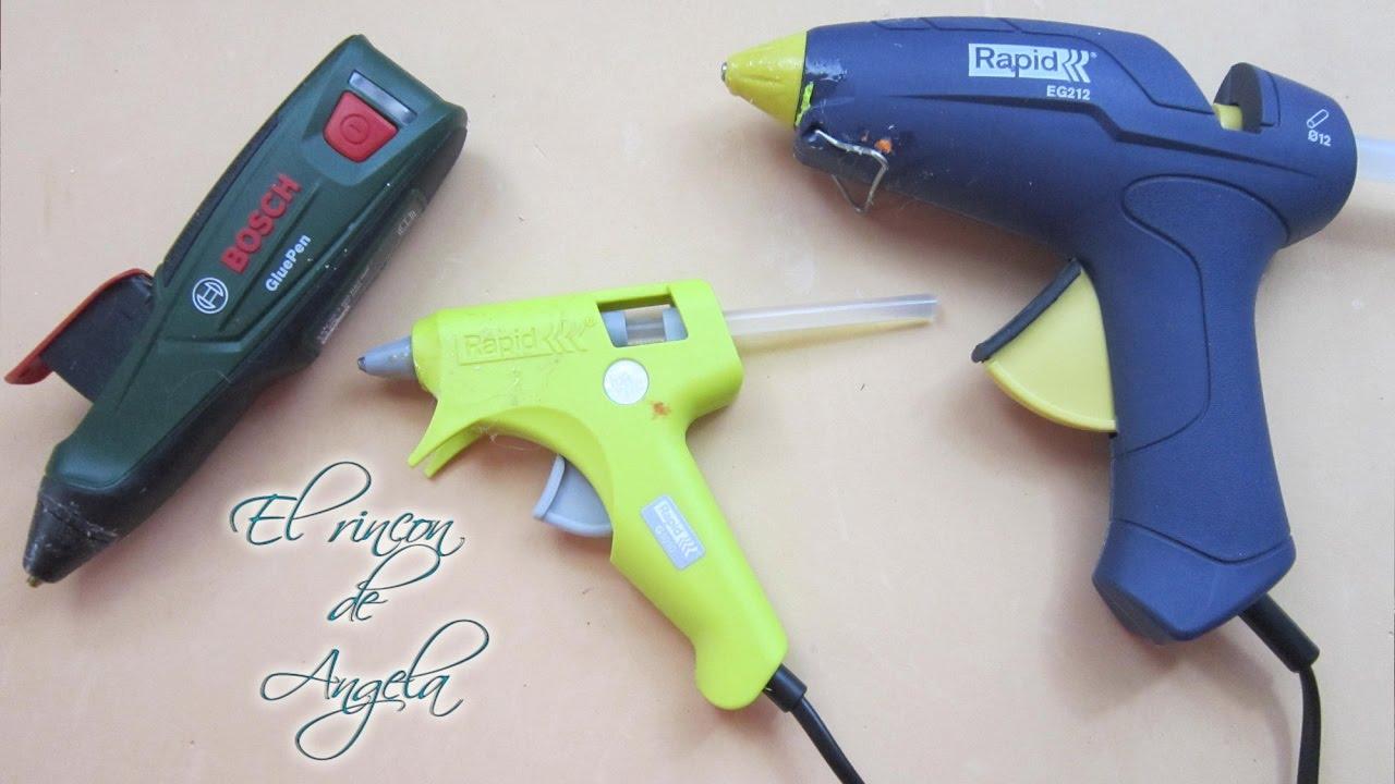 Mis pistolas de silicona caliente para manualidades youtube for Pistola de pegamento o de silicona