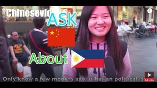 What Chinese think of Philippines |Ask Chinese about Filipino|Street interview