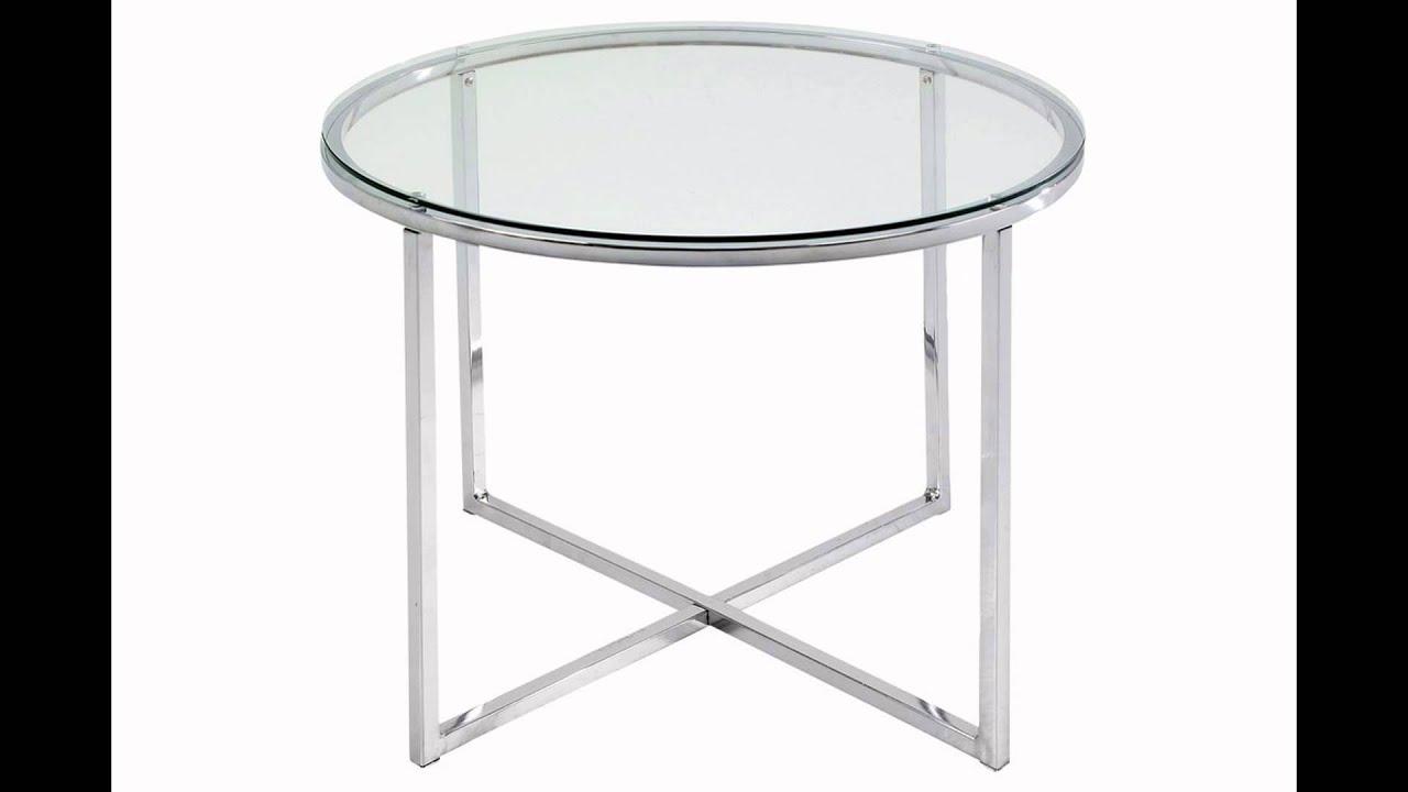 Glastisch rund  glastisch rund - YouTube