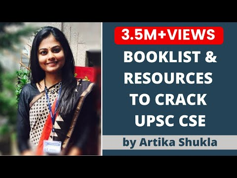 Booklist for IAS/UPSC Preparation by UPSC Topper AIR 4 Artika Shukla