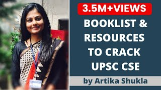 Booklist for UPSC CSE/ IAS Preparation 2018 by UPSC Topper AIR 4 Artika Shukla