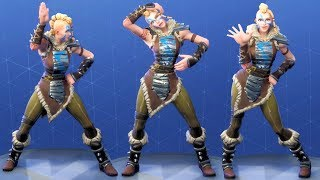 Fortnite Huntress Performs All Dances Season 1-5 [EPIC SKIN OUTFIT COSTUME]