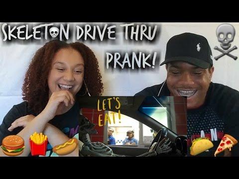 Skeleton Drive Thru Prank! Reaction Video