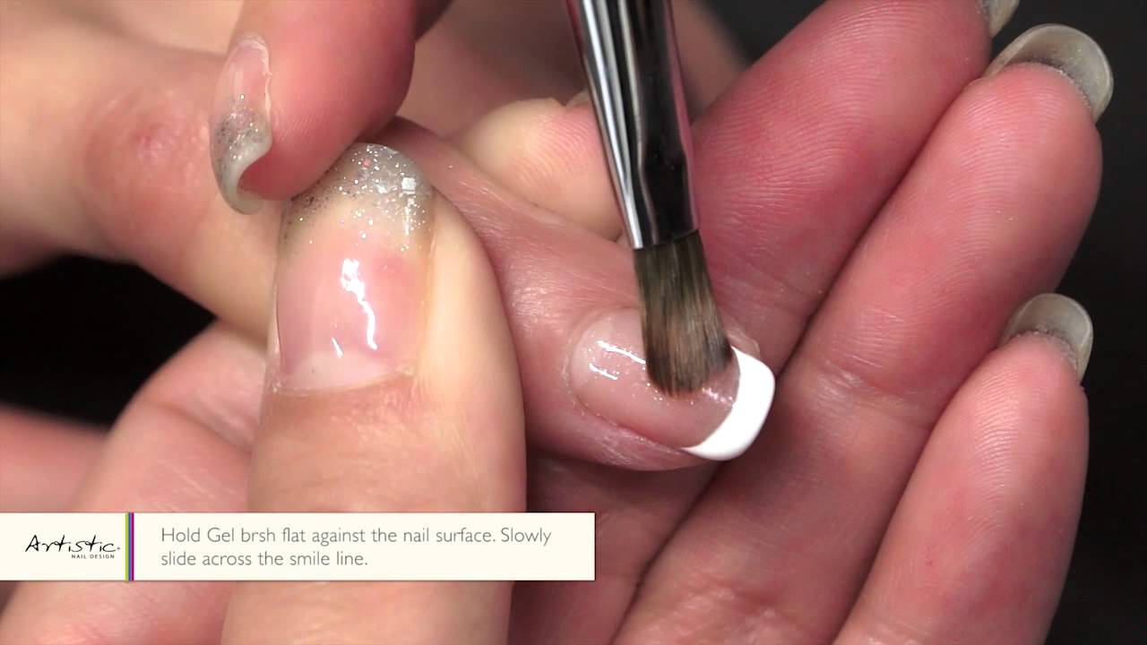 Artistic Colour Gloss Nail Art How-To: French Manicure - YouTube