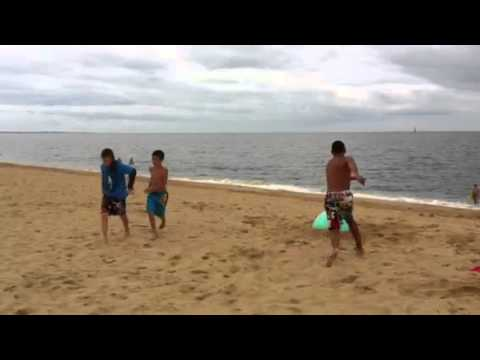 360 Ball Tricking at the Beach