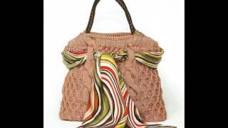 Интересный вариант, как украсить сумку своими руками платком