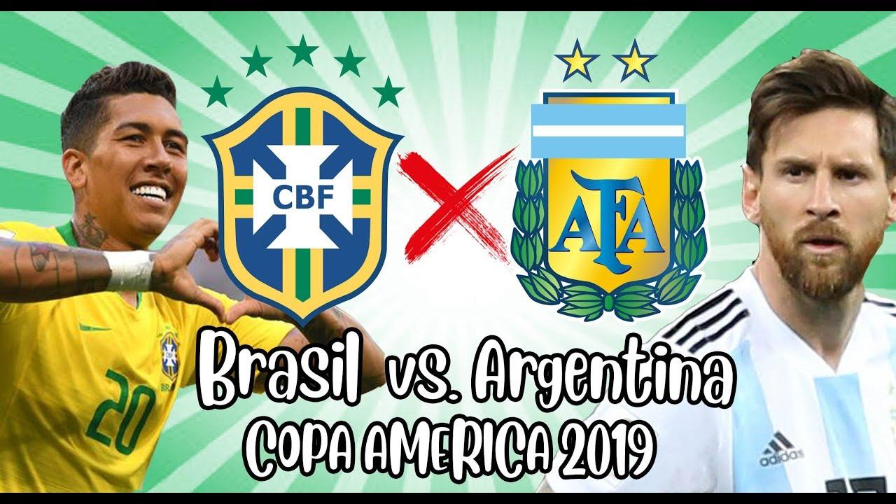 Resultado de imagem para brasil x argentina copa america 2019