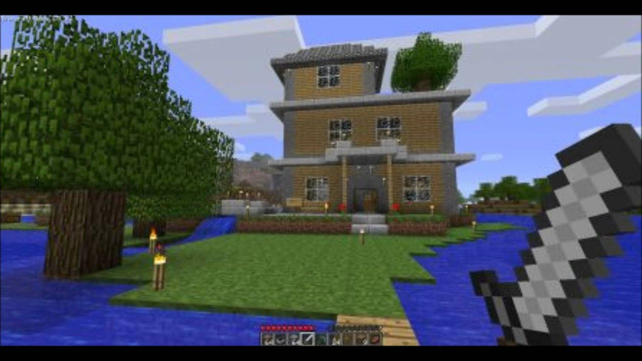 Ep1 du top 5 des plus belle construction minecraft youtube for Construction petite maison
