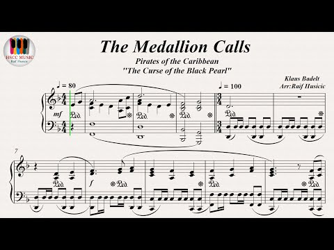 The Medallion Calls, Pirates of the Caribbean The Curse of the Black Pearl  Klaus Badelt, Piano