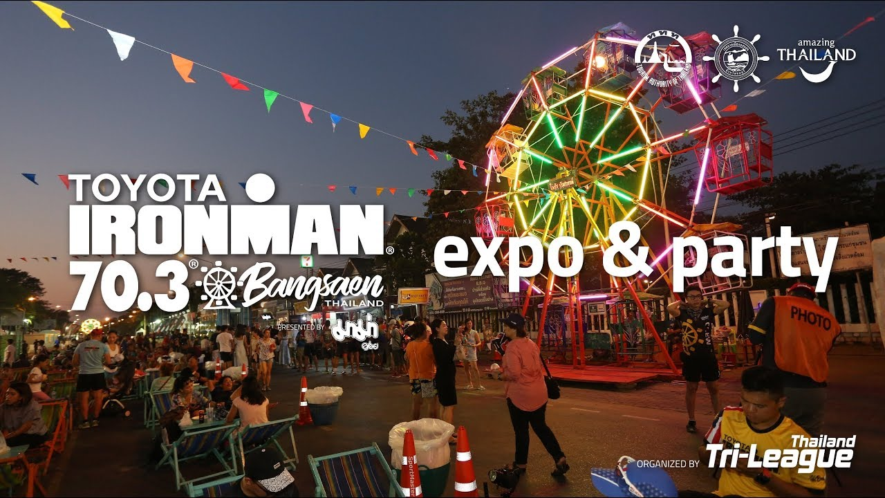 Welcome party and the expo in IRONMAN 70.3 Bangsaen