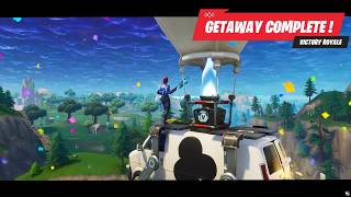 Winning a Getaway match - Fortnite