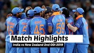 India Vs New Zealand 2nd ODI 2019 Highlights