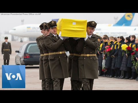 Remains Of Iran Crash Victims Are Returned To Ukraine