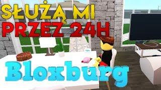 SŁUŻĄ MI PRZEZ 24H Bloxburg Roblox | #RobloxPL