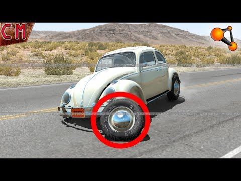 Torn off wheels (Punctured tires) BeamNG...