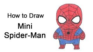 How to Draw Spider-Man (Mini / Chibi)