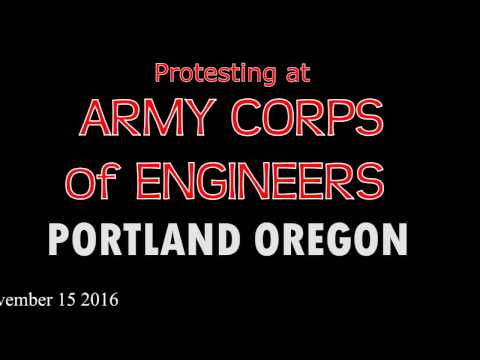NO DAPL - Water Is Life Army Corps Of Engineers - Protest in Portland Oregon 11.15.16