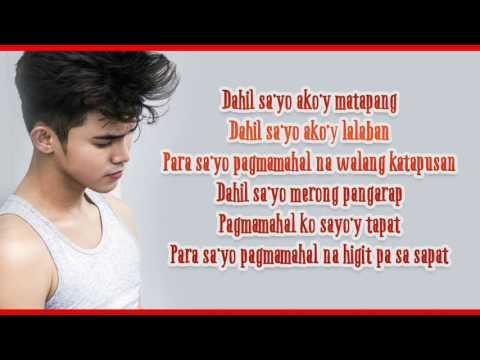 Inigo Pascual -Dahil Sayo Lyrics
