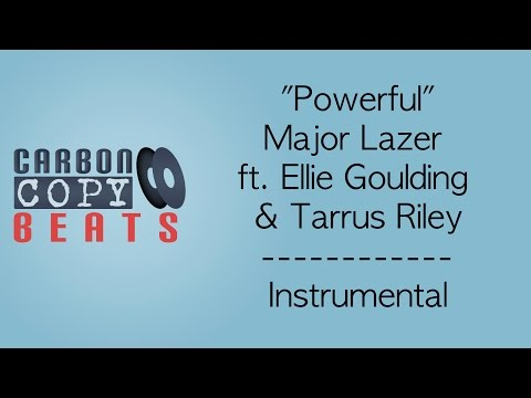 Powerful - Instrumental / Karaoke (In The Style Of Major Lazer ft. Ellie Goulding & Tarrus Riley)