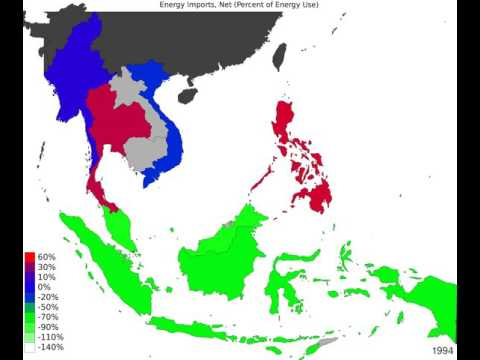South East Asia - Energy Imports, Net - Time Lapse