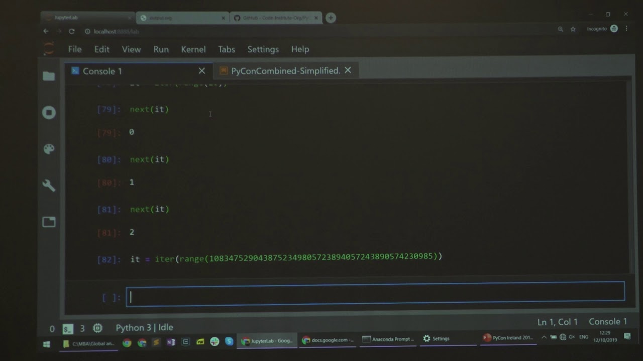 Image from PyCon Ireland 2019 - Python iterators as a tool for analysing a social network - Yoni Lavi