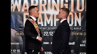 Josh Warrington v Carl Frampton face-off in front of the Belfast fans