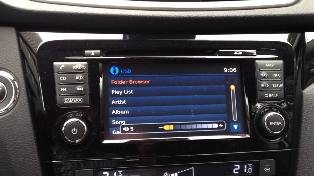 Qashqai J11 Nissan Connect Radio File Browser Bug Youtube