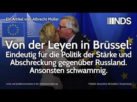 Von der Leyen in Brüssel: Eindeutig für die Politik der Stärke und Abschreckung gegenüber Russland