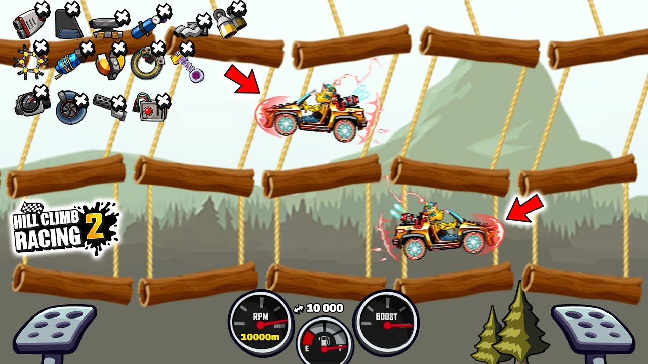 Hill Climb Racing 2 - 10km With CC-EV in FOREST
