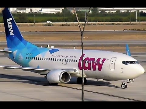 BEAUTIFUL LAW Boeing 737-36N(WL) (CC-AVL) | Parking arrival at Santiago SCL