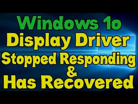 Amd Driver Stopped Working Windows 10