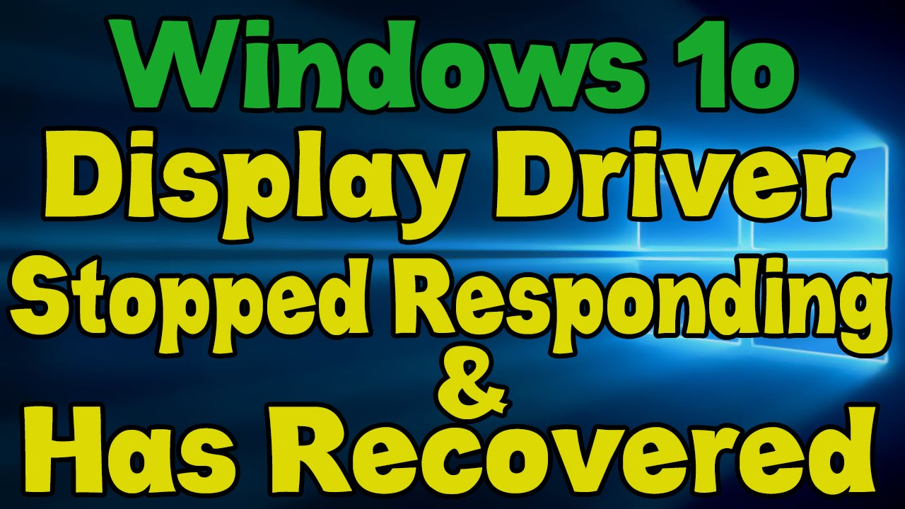 Video adapter stopped responding and was restored: what to do 82