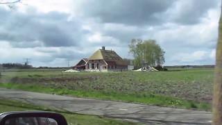 Autofahrt ab Ommen über Hellendoorn nach Losser in der Niederlande