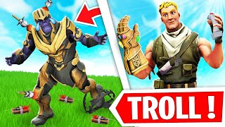 JE TROLL THANOS SUR FORTNITE !!! Prank Thanos !