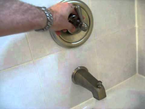 Bathroom Faucet Making Noise noisy moen bath fixture - youtube