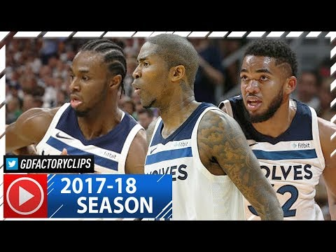 Andrew Wiggins, Karl-Anthony Towns & Jamal Crawford Highlights vs Jazz (2017.10.20) - CLUTCH!