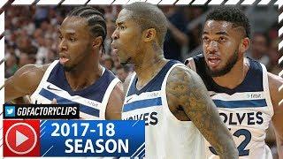 Andrew Wiggins, Karl-Anthony Towns & Jamal Crawford Highlights vs Jazz (2017.10.20) - CLUTCH!