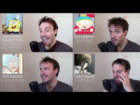 ONE GUY, 44 CHARACTERS (Death Note, Family Guy, Rick & Morty, Famous Character Impressions)