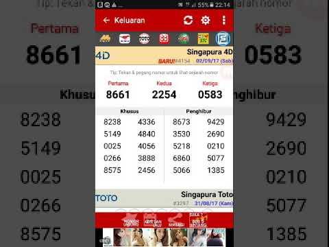 Keluaran togel singapura 4d 02/09/2017 (sabtu) - YouTube
