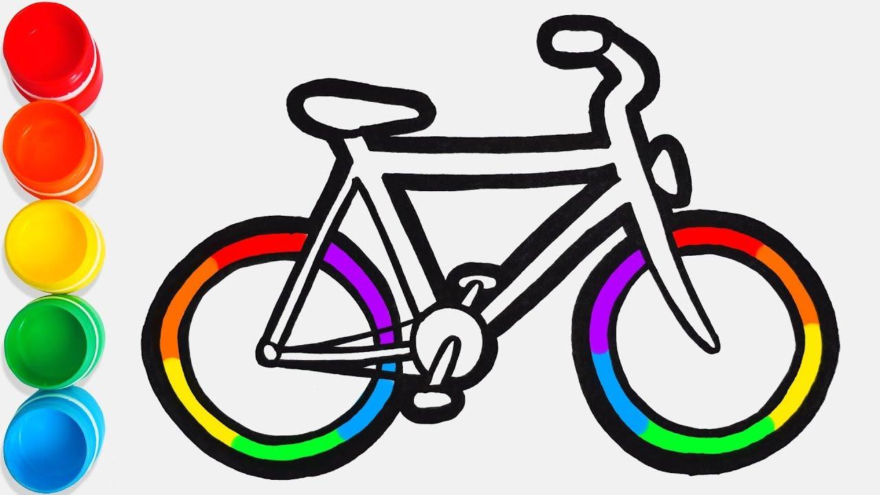 Cara Menggambar Dan Mewarnai Sepeda Mainan Video Pendidikan Untuk Anak Anak