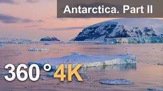 360°, Antarctica. Part II. 4K aerial video