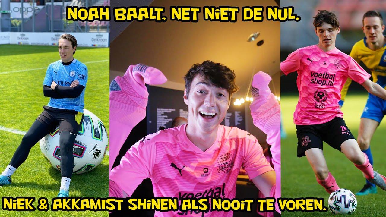 Bas duikt op in het FC Utrecht stadion. Noah baalt, net niet de nul gehouden. AKKAMIST & Niek shinen