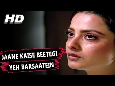 Jaane Kaise Beetegi Yeh Barsaatein | Lata Mangeshkar | Baseraa 1981 Songs | Shashi Kapoor, Rekha