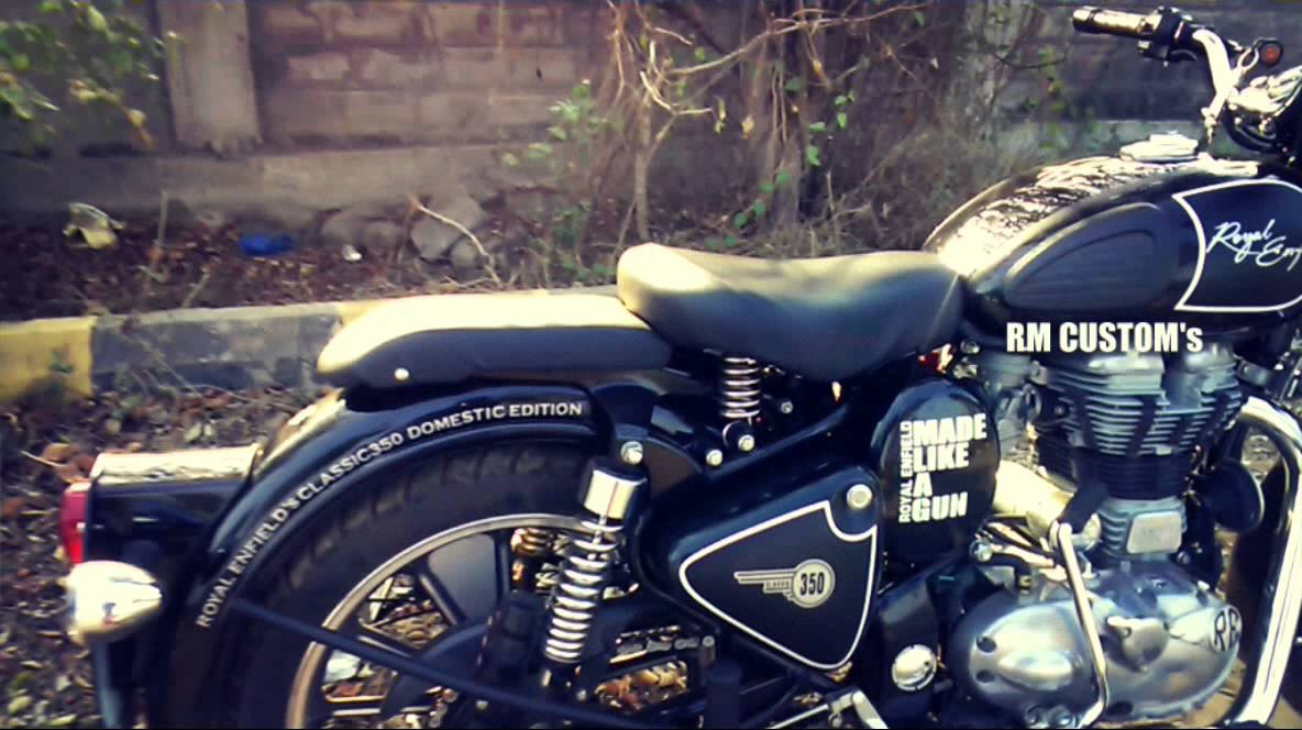 Royal Enfield Classic YouTube - Classic motorcycle custom stickers