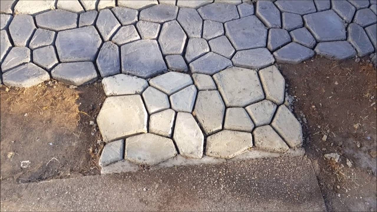 How to make a paver, cobblestone or brick walkway or patio ...