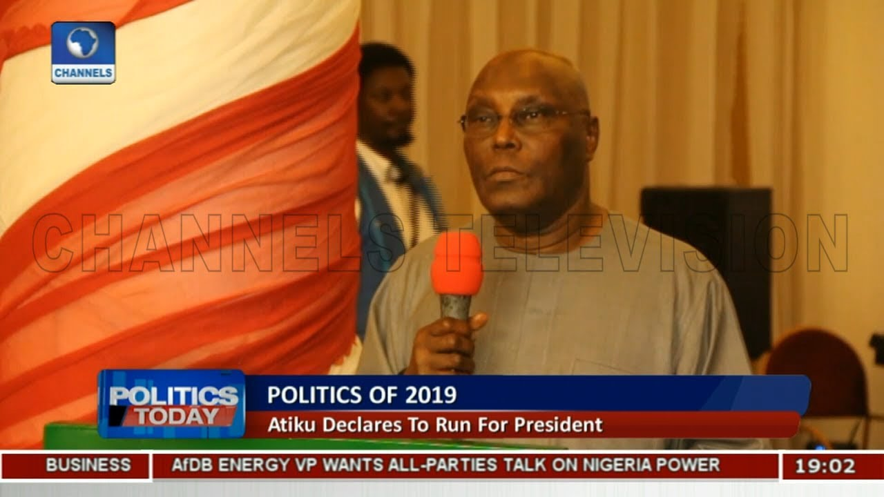 2019 Election: Atiku Declares To Run For President