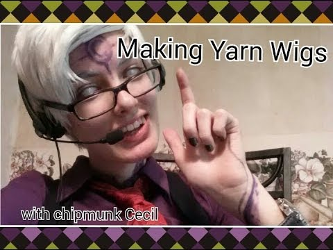 Outdated Tutorial Making A Yarn Wig With Chipmunk Cecil Youtube